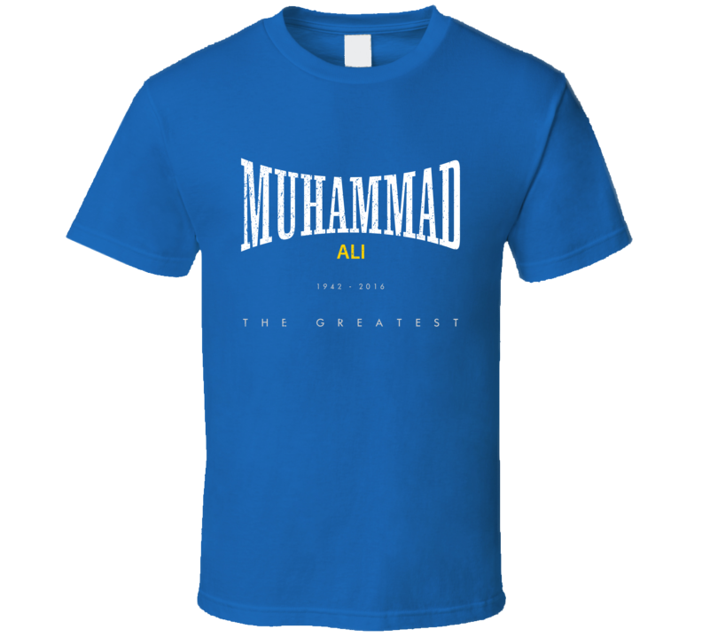 Muhammad Ali The Greatest Boxing Champion Tribute Worn Look T Shirt