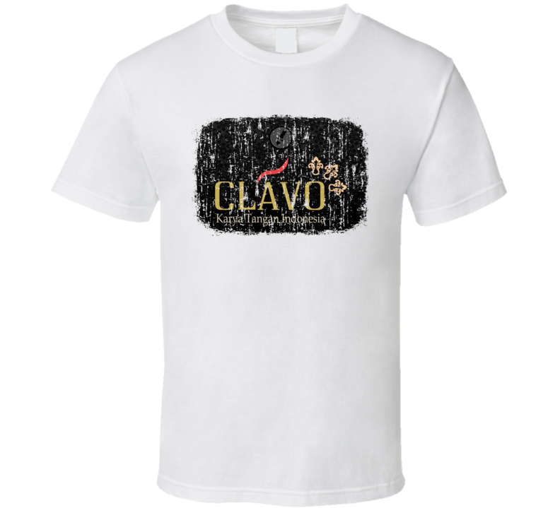 Clavo Indonesia Cigarette Smoker Fathers Day Worn Look Cool T Shirt