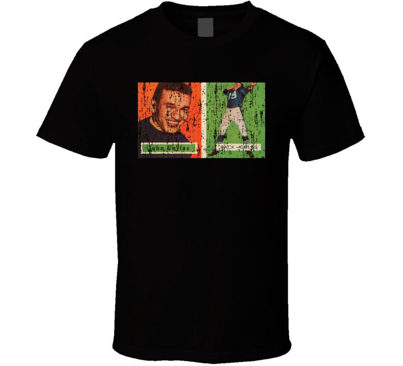 1957 Johnny Unitas Vintage Football Trading Card Worn Look T Shirt