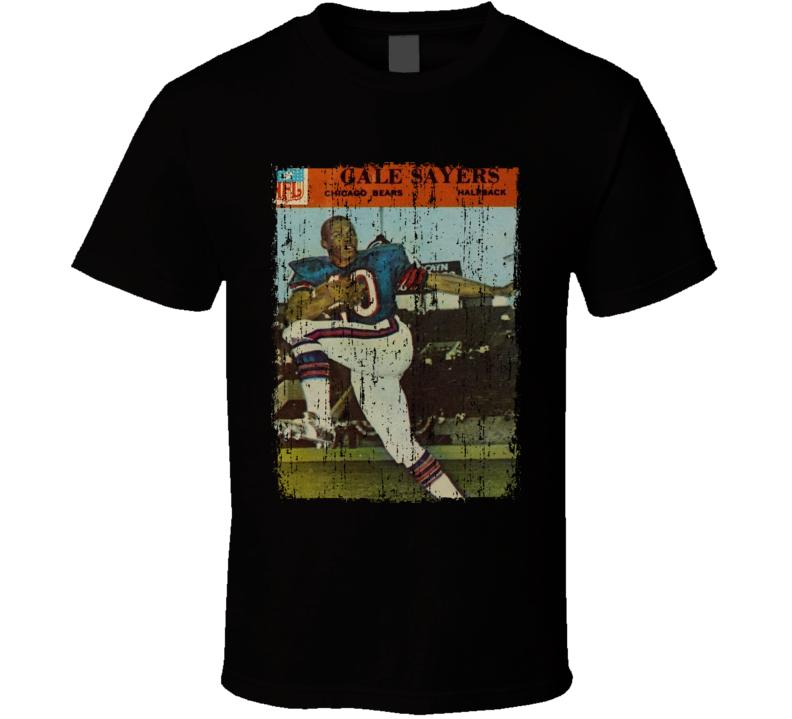 1966 Philadelphia Sayers Vintage Football Card Worn Look T Shirt