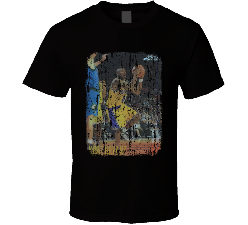 1996 Kobe Bryant Vintage Basketball Trading Card Worn Look T Shirt