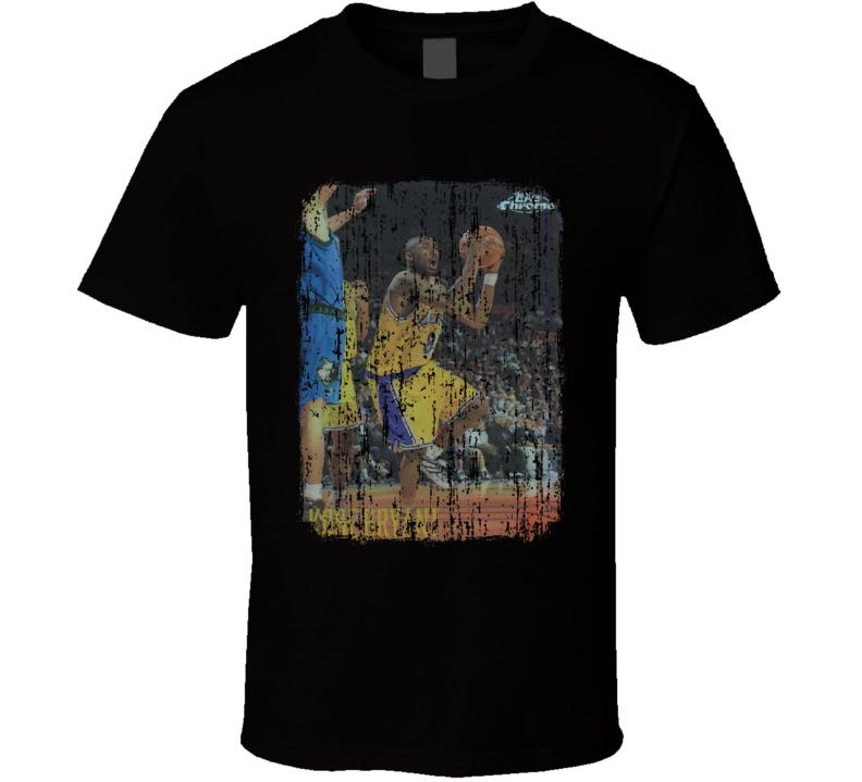 1996 Kobe Bryant Vintage Basketball Trading Card Worn Look T Shirt