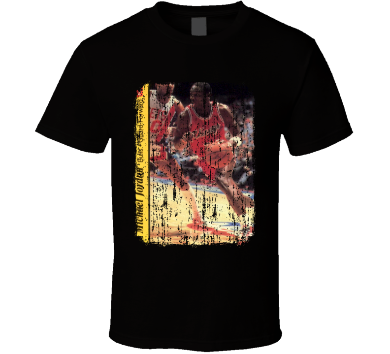 1986 Michael Jordan Vintage Basketball Trading Card Worn Look T Shirtbask T Shirt