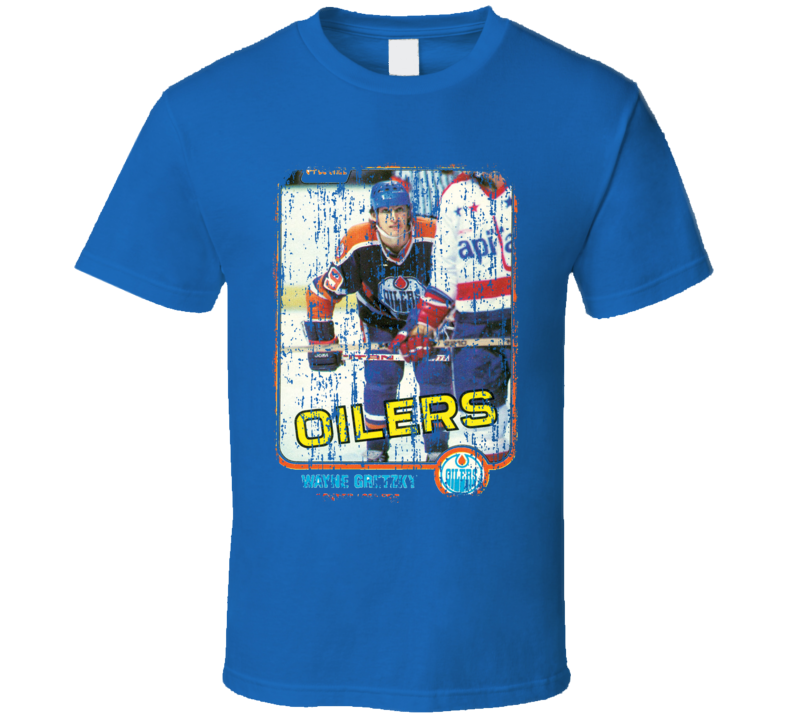 1981 Wayne Gretzky Vintage Hockey Trading Card Worn Look Cool T Shirt