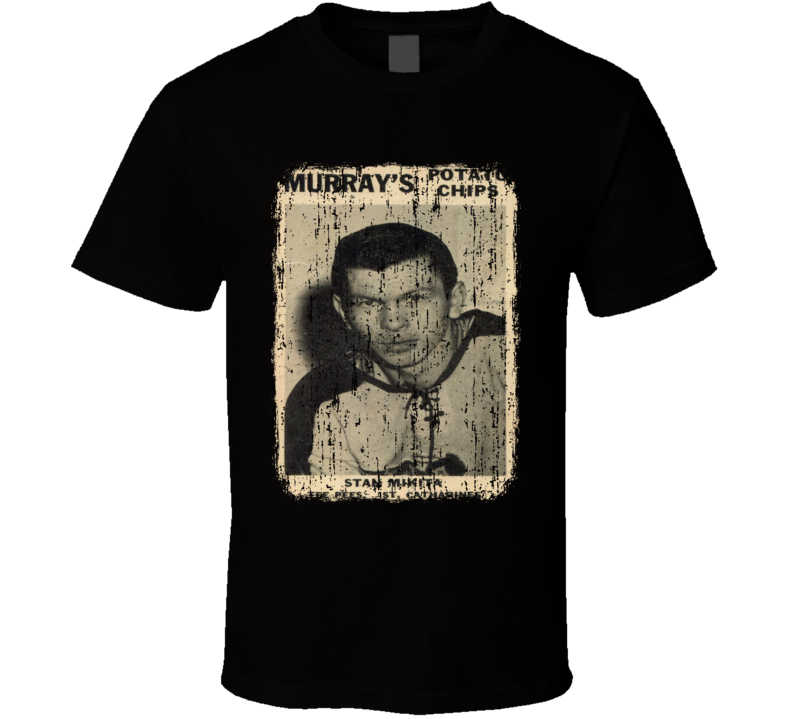 1957 Stan Mikita Vintage Hockey Trading Card Worn Look Cool T Shirt
