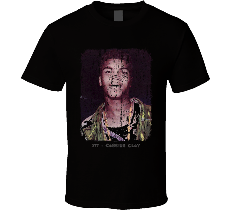 1966 Cassius Clay Vintage Boxing Trading Card Worn Look Cool T Shirt