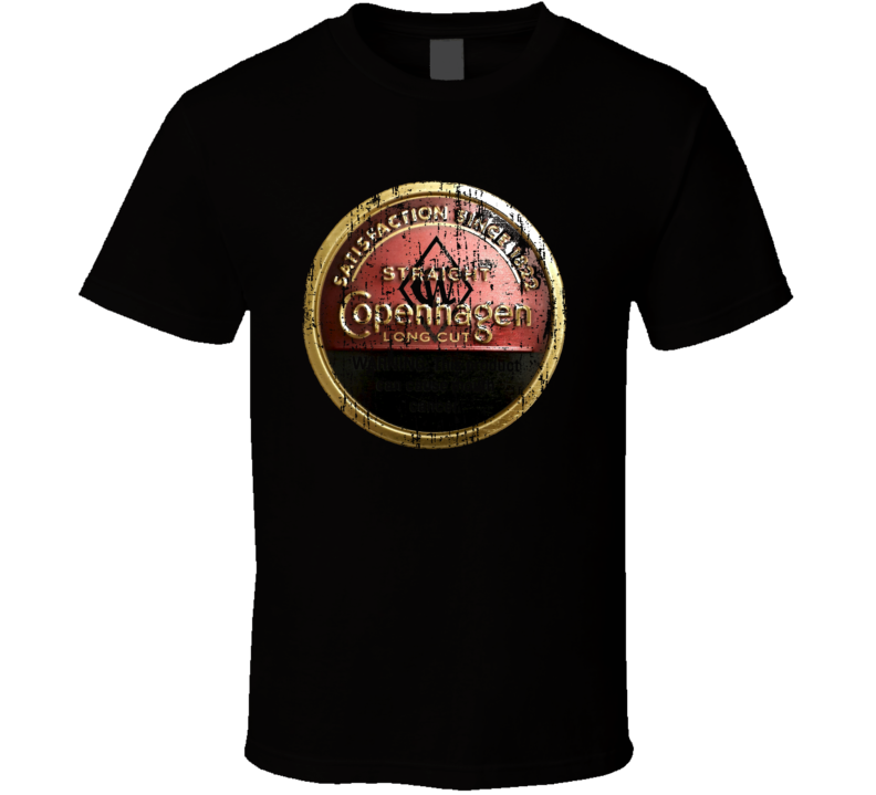 Copenhagen Long Cut Straight Chewing Tobacco Worn Look Gift T Shirt