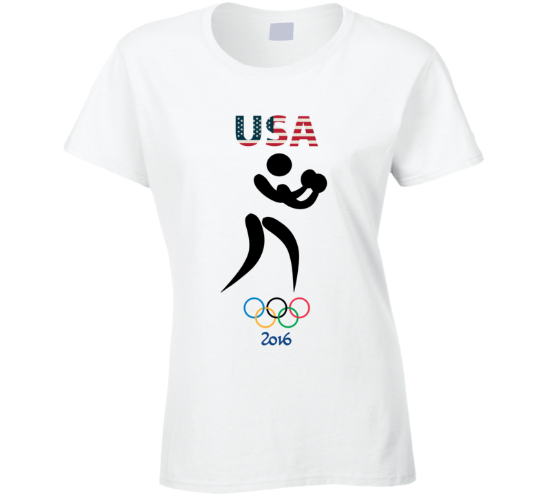 Team USA Boxing Champion Rio 2016 Olympic Gold Athlete Ladies T Shirt
