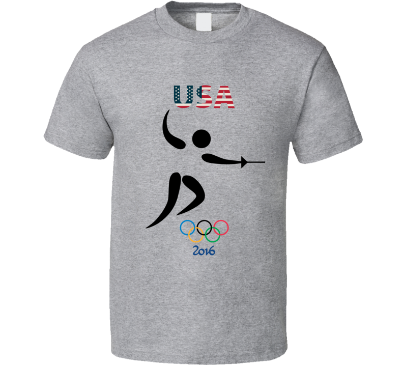 Team USA Fencing Champion Rio 2016 Olympic Gold Athlete Fan T Shirt