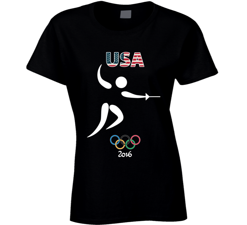 Team USA Fencing Champion Rio 2016 Olympic Gold Athlete Ladies T Shirt