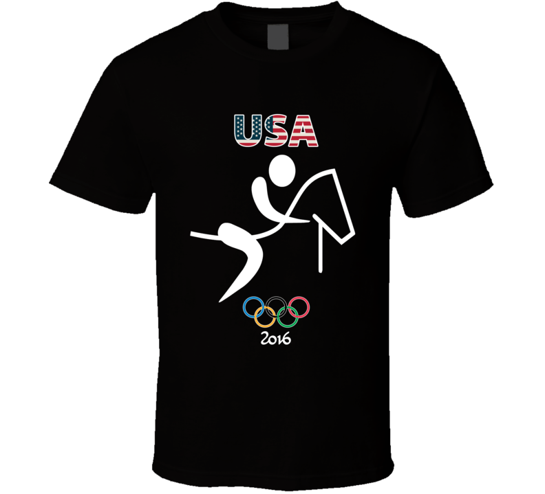 Team USA Equestrian Champion Rio 2016 Olympic Gold Athlete Fan T Shirt