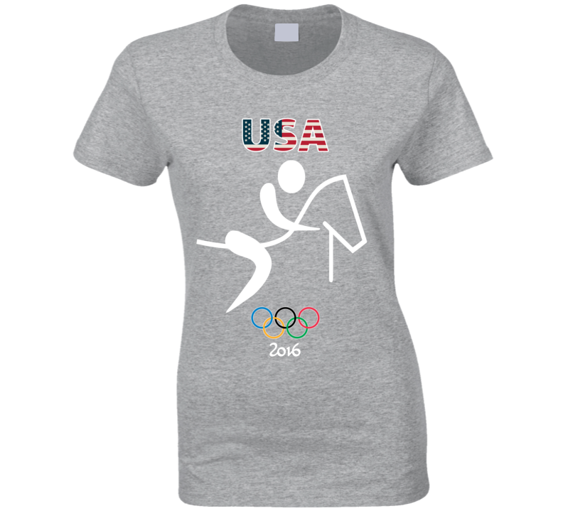 Team USA Equestrian Champion Rio 2016 Olympic Athlete Ladies T Shirt