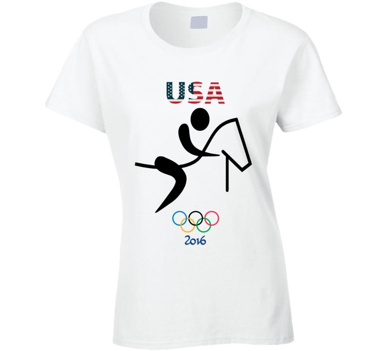 Team USA Equestrian Champion Rio 2016 Olympic Athlete Ladies T Shirt