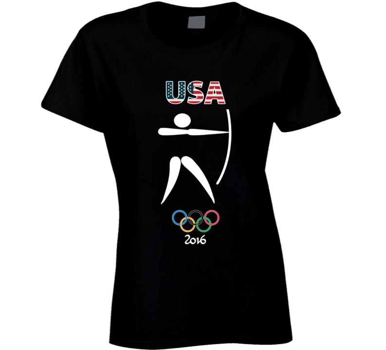 Team USA Archery Champion Rio 2016 Olympic Gold Athlete Ladies T Shirt