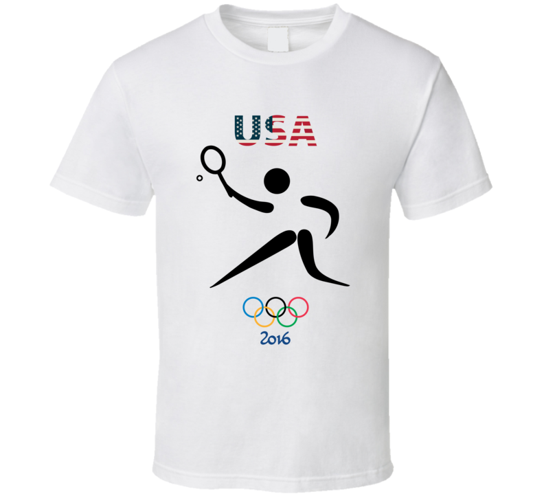 Team USA Tennis Champion Rio 2016 Olympic Gold Athlete Fan T Shirt