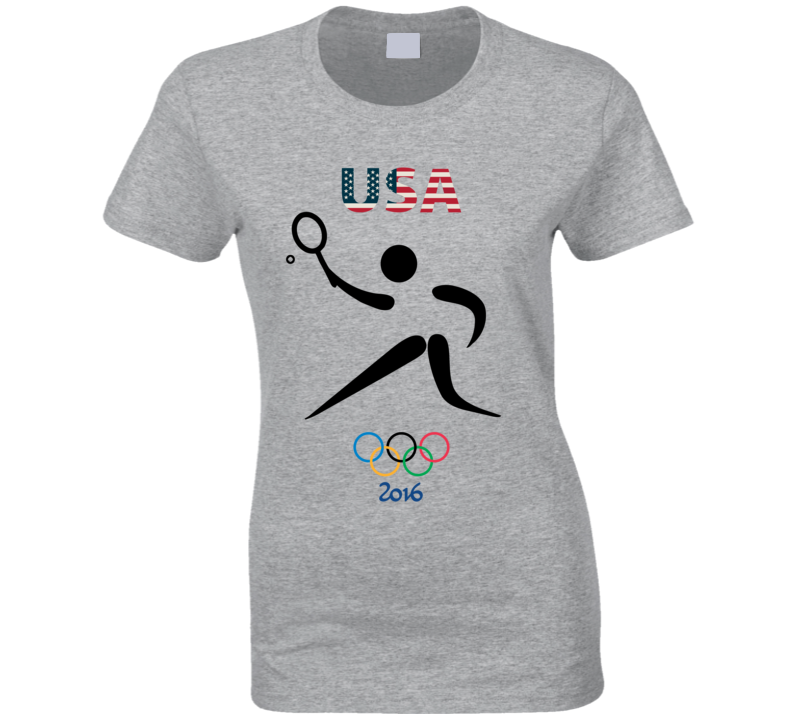 Team USA Tennis Champion Rio 2016 Olympic Gold Athlete Ladies T Shirt