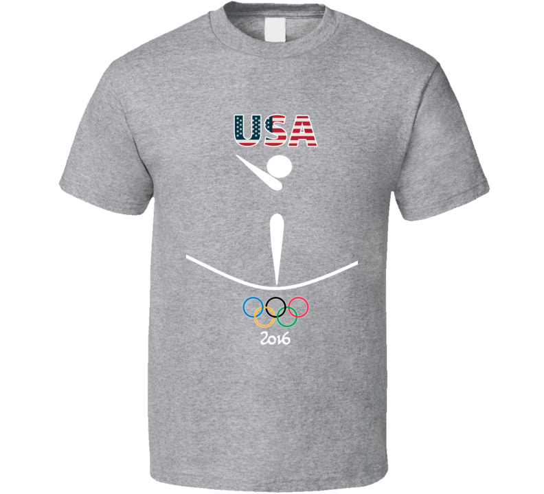 Team USA Gymnastics Champion Rio 2016 Olympic Gold Athlete Fan T Shirt