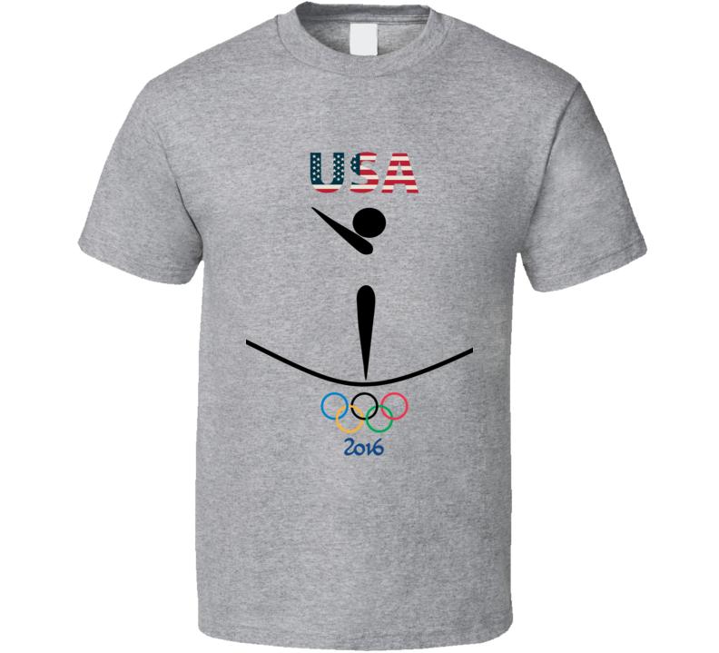 Team USA Gymnastics Champion Rio 2016 Olympic Gold Athlete Fan T Shirt