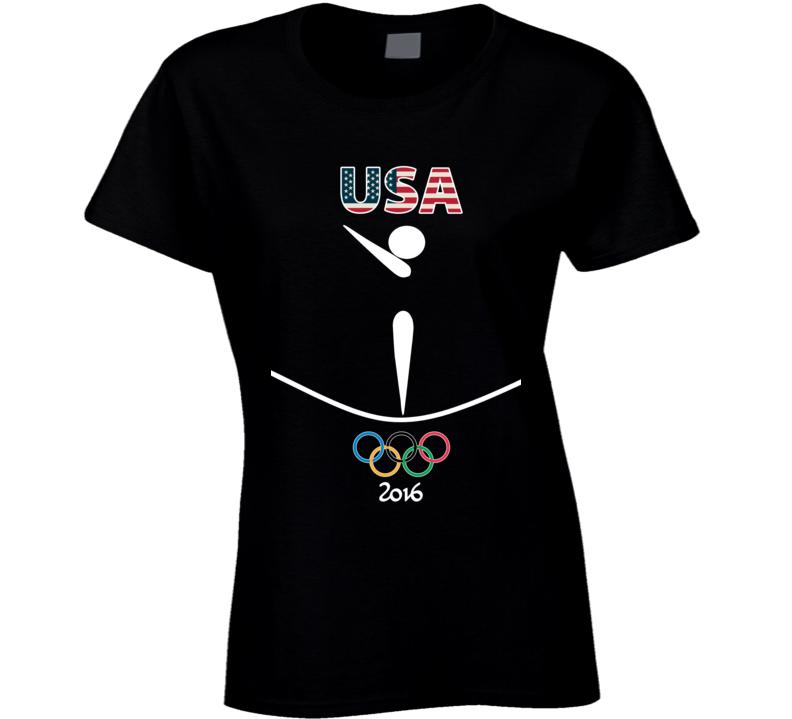 Team USA Gymnastics Champion Rio 2016 Olympic Athlete Ladies T Shirt
