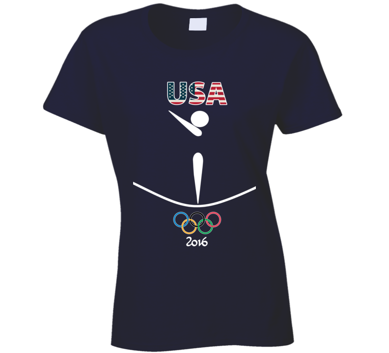 Team USA Gymnastics Champion Rio 2016 Olympic Athlete Ladies T Shirt