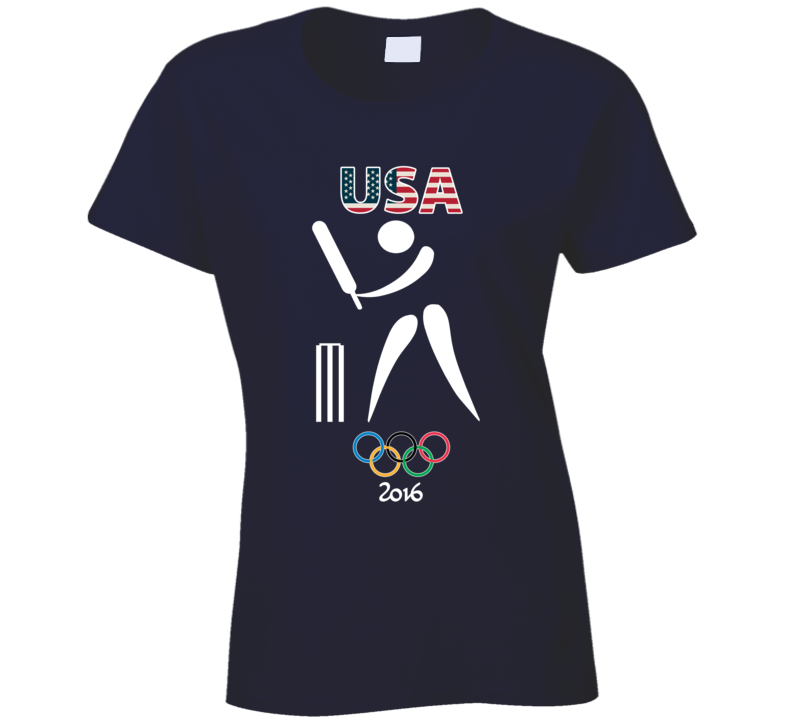Team USA Cricket Champion Rio 2016 Olympic Gold Athlete Ladies T Shirt