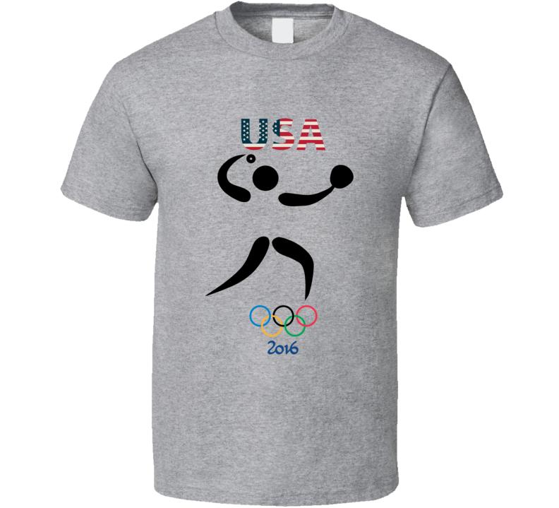 Team USA Softball Champion Rio 2016 Olympic Gold Athlete Fan T Shirt