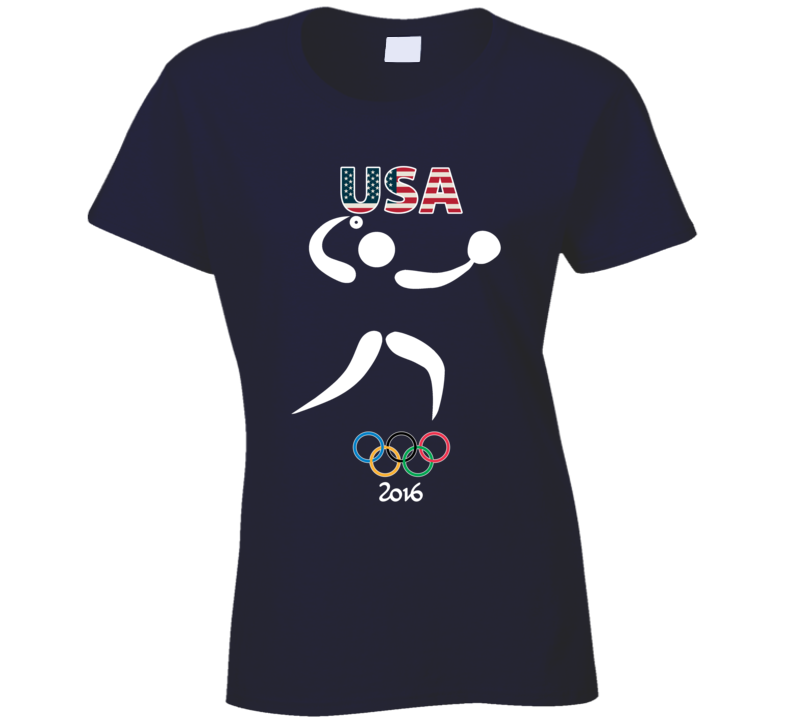 Team USA Softball Champion Rio 2016 Olympics Athlete Ladies T Shirt