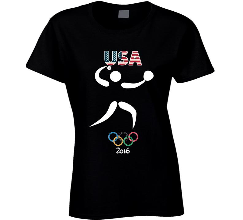 Team USA Softball Champion Rio 2016 Olympics Athlete Ladies T Shirt