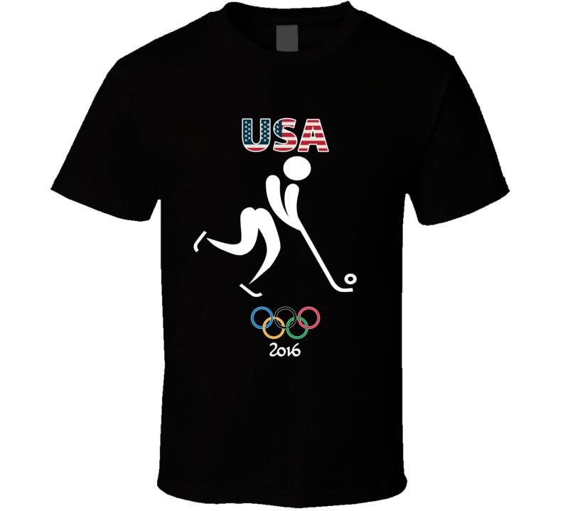 Team USA Bandy Champion Rio 2016 Olympic Gold Athlete Fan T Shirt