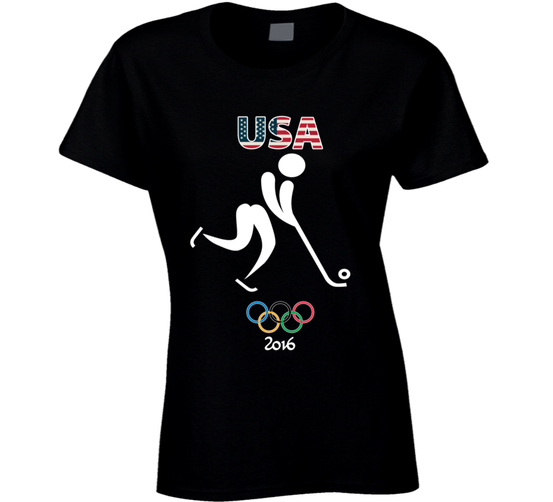 Team USA Bandy Champion Rio 2016 Olympic Gold Athlete Ladies T Shirt