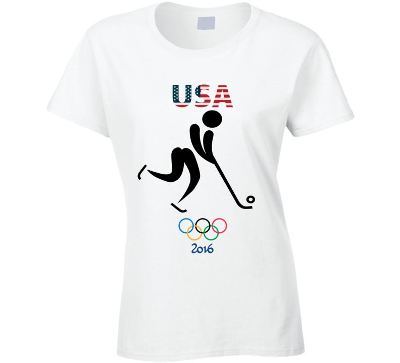 Team USA Bandy Champion Rio 2016 Olympic Gold Athlete Ladies T Shirt