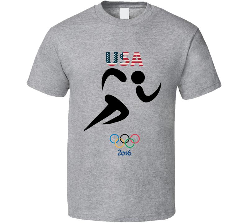 Team USA Track Champion Rio 2016 Olympic Gold Athlete Fan T Shirt