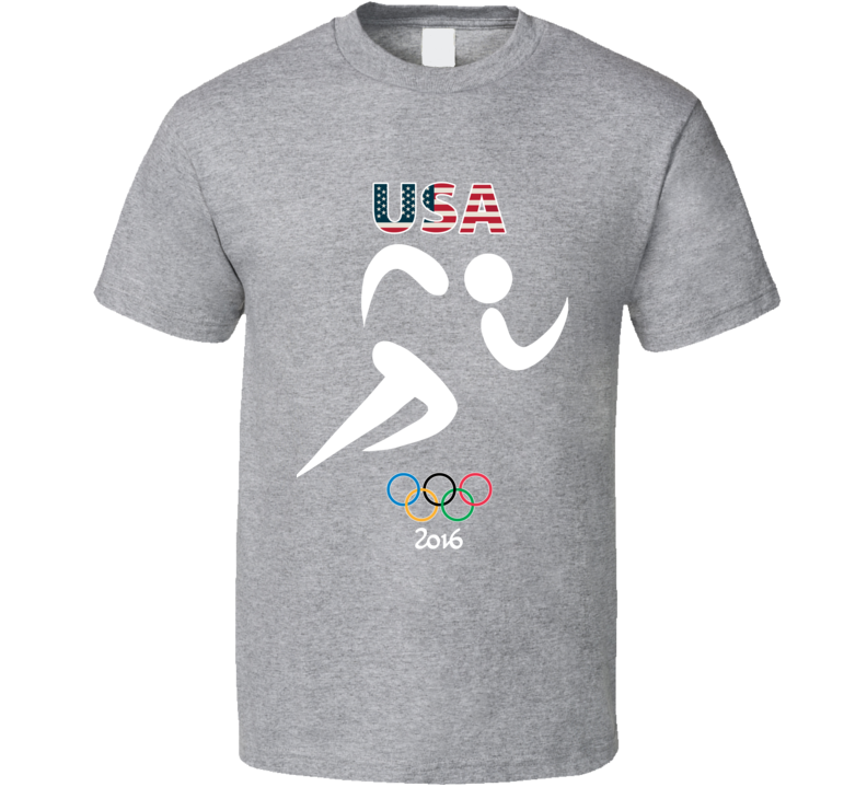 Team USA Track Champion Rio 2016 Olympic Gold Athlete Fan T Shirt