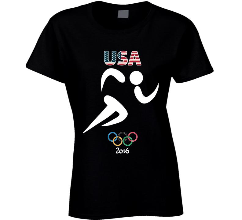 Team USA Track Champion Rio 2016 Olympics Athlete Ladies T Shirt