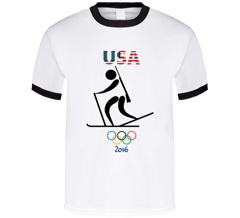 Team USA Biathlon Champion Rio 2016 Olympic Gold Athlete Fan T Shirt