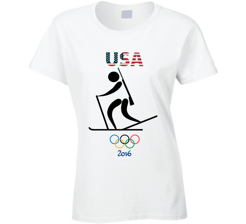Team USA Biathlon Champion Rio 2016 Olympics Athlete Ladies T Shirt