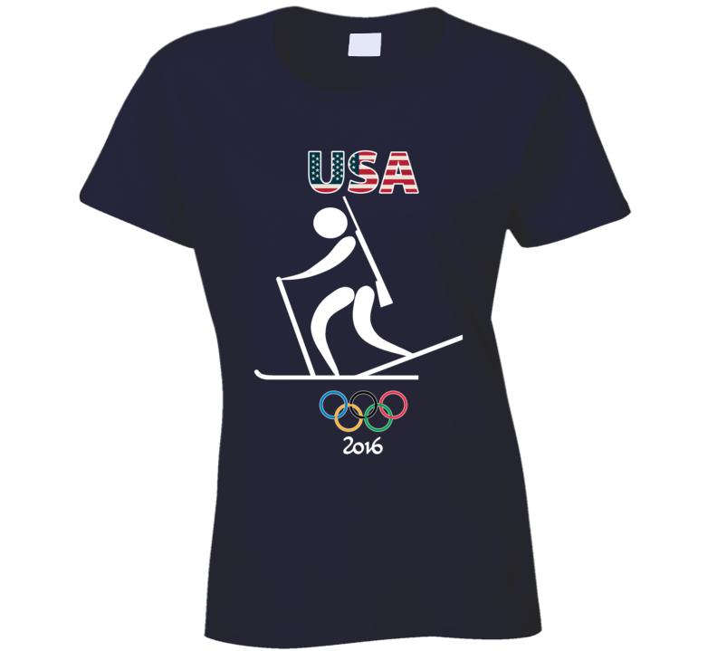 Team USA Biathlon Champion Rio 2016 Olympics Athlete Ladies T Shirt