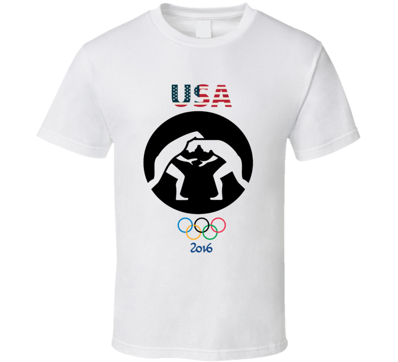 Team USA Wrestling Champion Rio 2016 Olympic Gold Athlete Fan T Shirt