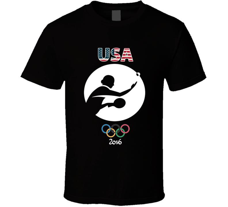 Team USA Table Tennis Champion Rio 2016 Olympic Gold Athlete T Shirt