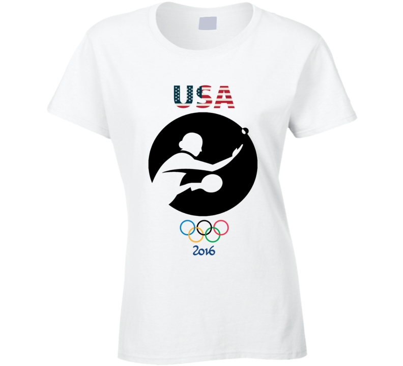 Team USA Table Tennis Champion Rio 2016 Olympic Athlete Ladies T Shirt