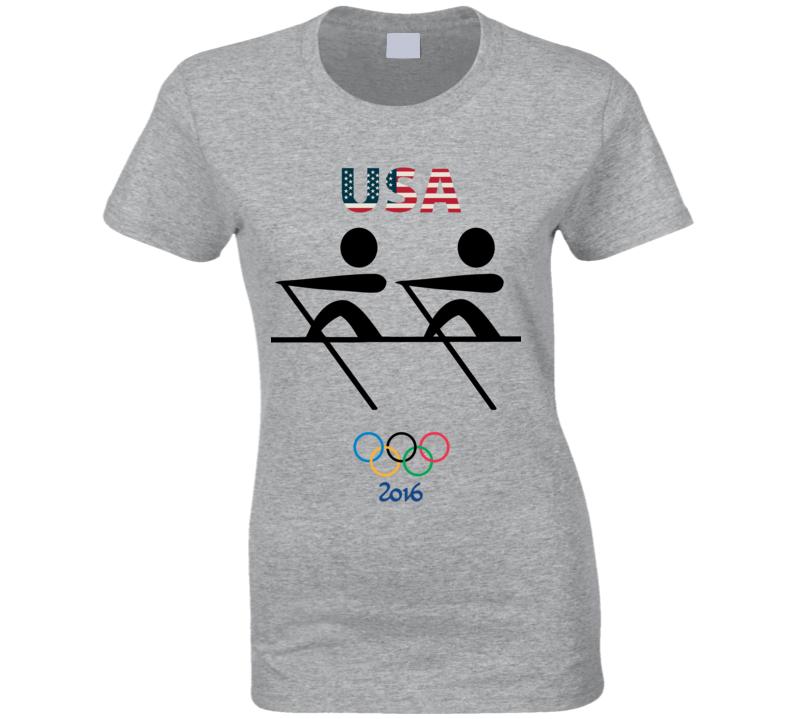 Team USA Rowing Champion Rio 2016 Olympics Athlete Fan Ladies T Shirt