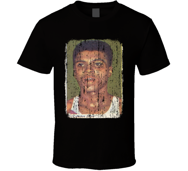 1960 Cassius Clay Vintage Boxing Trading Card Worn Look Cool T Shirt