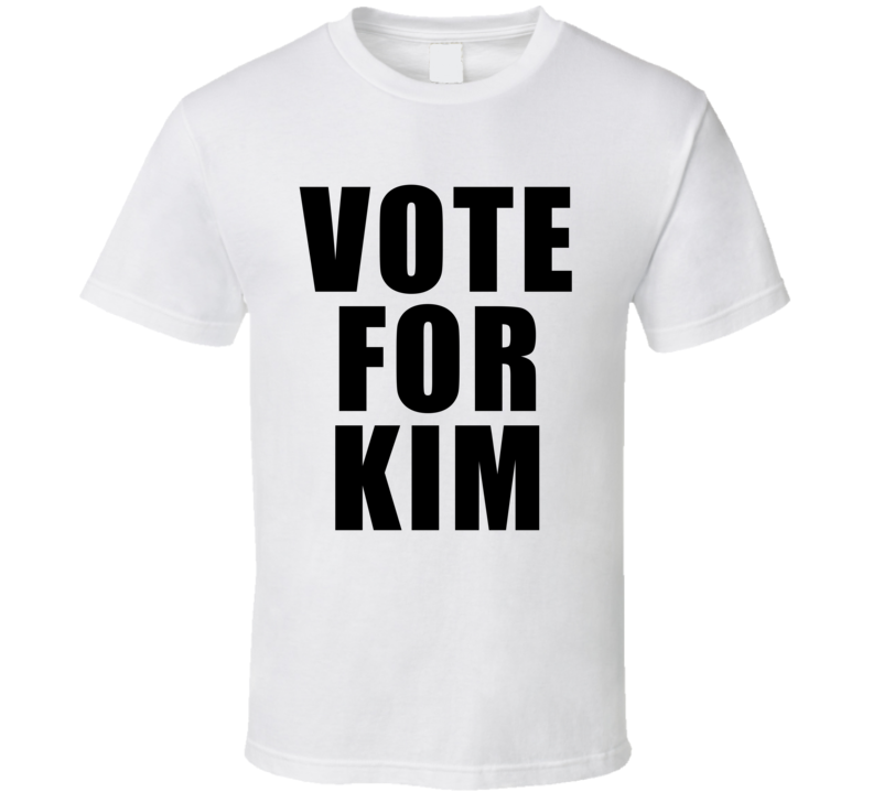 Vote For Kim Kardashian Cool Faded Look Danicng With the Stars T Shirt