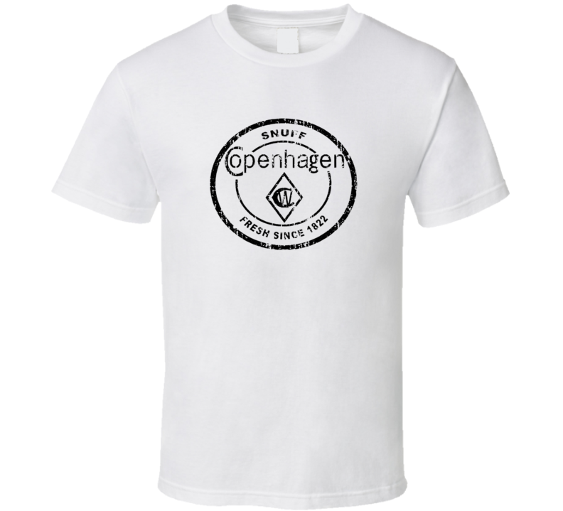 Copenhagen Black Chewing Tobacco Worn Look Cool Father Gift T Shirt