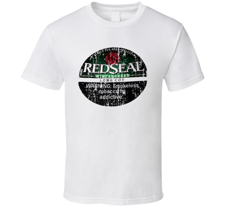 Red Seal Long Cut Wintergreen Chewing Tobacco Worn Look Gift T Shirt