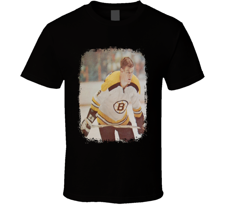 Bobby Orr Ice Hockey Celebrity Tribute Poster Worn Look Sports T Shirt