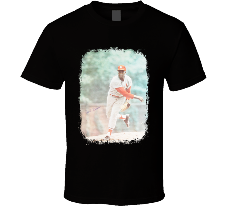 Bob Gibson Baseball Celebrity Tribute Poster Worn Look Sports T Shirt