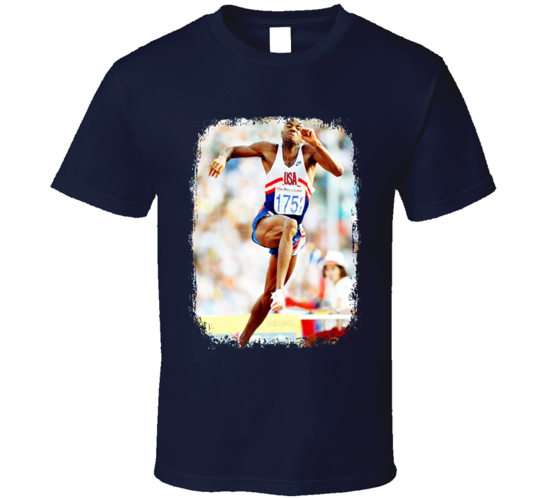 Bob Beamon Track And Field Celebrity Tribute Poster Worn Look T Shirt