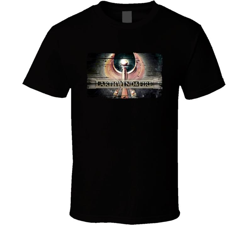 Earth Wind Fire Logo Jazz Music Tribute Poster Worn Look T Shirt