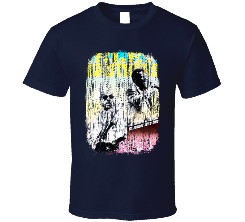 Isley Brothers Soul Music Celebrity Tribute Poster Worn Look T Shirt